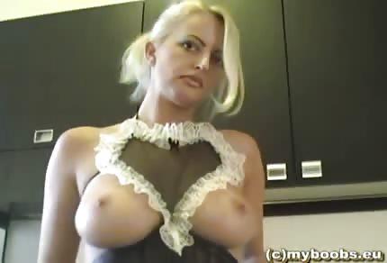 Polka v sexy prádle