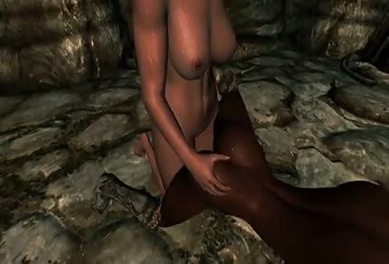 Animované porno v jeskyni