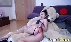 Sexy blondýna na sexuální webkameru