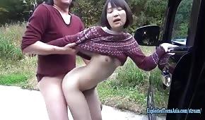 Veřejný sex s asijskými