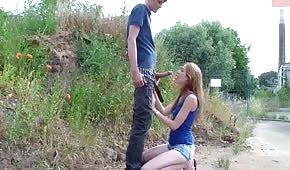 Rychlý sex s dlouhou legged hůl