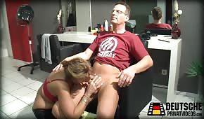 Sex s německým kadeřníkem