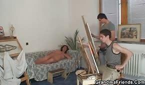 Mladí malíři kurva bruneta