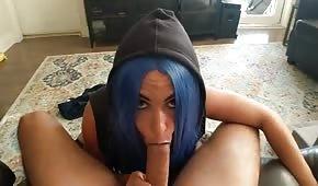 Modré vlasy zlobivá zmrzlina