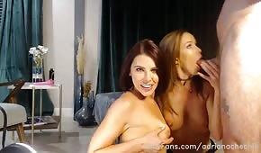 Drsné trojice porno se dvěma feny