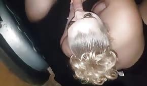 Baculaté blond hluboké hrdlo