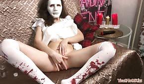 Bláznivá masturbace během Halloweenu